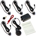 wupp 4 Car Parking Sensors Voice Alert Alarm Backup Reverse Rear Radar System Kit front and rear car parking sensors