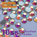 Free Shipping Nail Art Rhinestone Crystal AB Color SS10(2.7-2.9mm) 1440pcs/pack Non Hotfix Flatback Crystal Stones