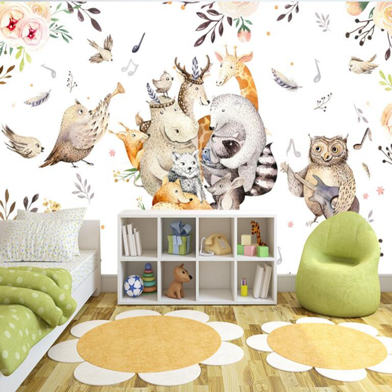 modern baby wallpaper in wall papers custom 3d stereo wall murals for bed room decor living room design birds animal wallpaper