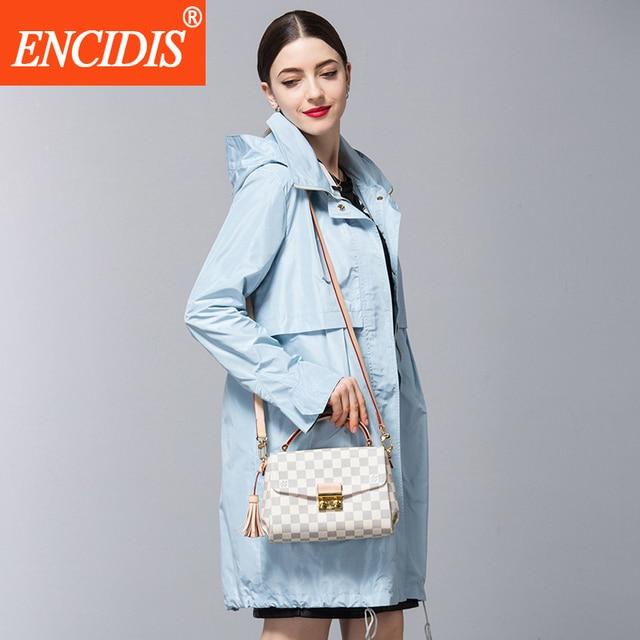 Trench Coat Para As Mulheres 2016 Nova Moda Longo Soltas das Mulheres Casacos de Inverno Com Capuz Zipper Ocasional Casaco Feminino F332
