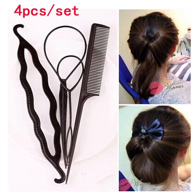 New 4pcs\/set New Fashion Magic Braiders Hair Twist Styling Clip Stick ...