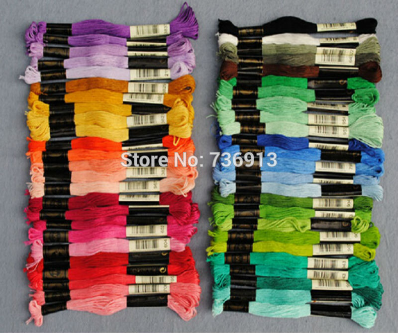 Cotton Total 100 Pieces Cross Stitch / Embroidery Thread Floss Yarn Similar DMC Choose Your Own Colors And Quantity