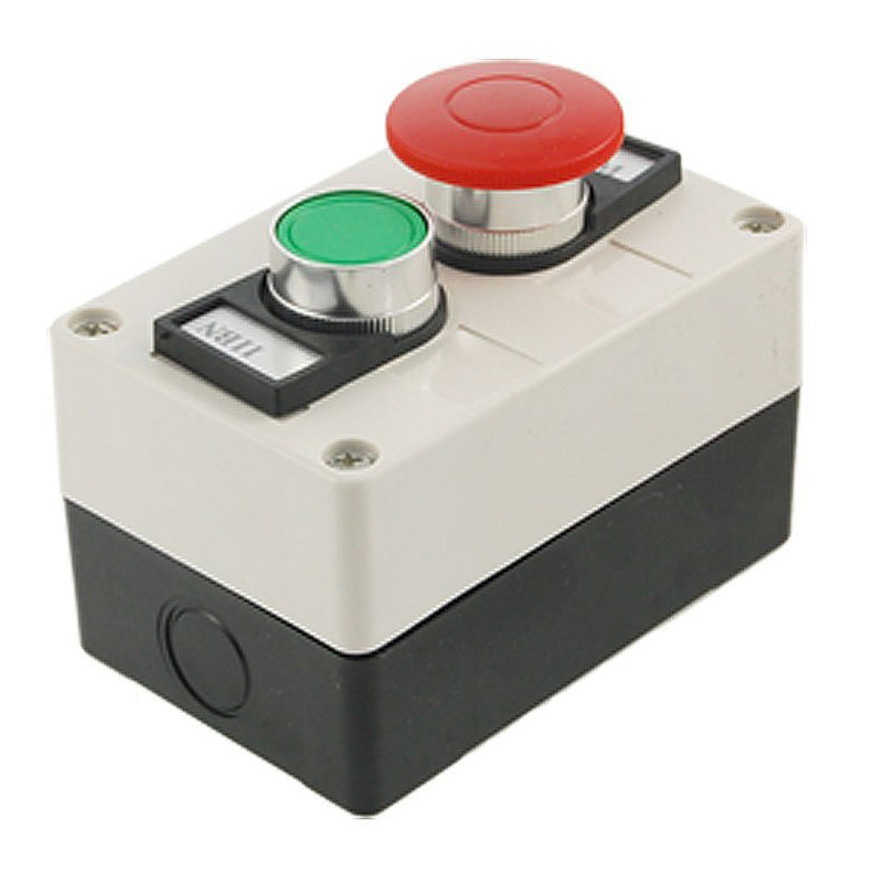 High Quality Red Mushroom Head Momentary Switch Push Button Station