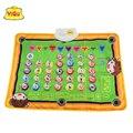 Esteira do jogo infantil espanhol, ginásio acolchoado bebê de aprendizagem educação brinquedos do bebê musical tapete letras Espanhol palavras e perguntas