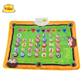 Spanish children's play mat ,baby learning gym padded baby mat education toys musical carpet Spanish letters words and questions