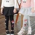 Chica Legging 2016 Nuevos Cabritos Lindos Legging Grueso Terciopelo Pantalones Ocasionales de Los Bebés Leggings Otoño Cómodo Vestido Leggins