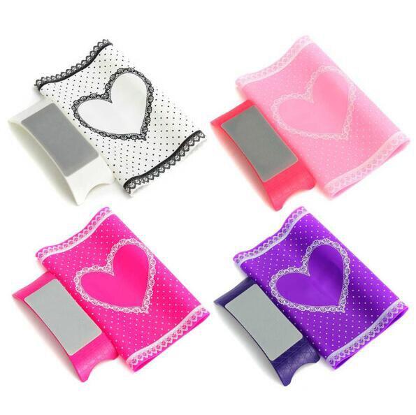 1 Satz Silikon Kissen Hand Halter Spitze Welle Punkt Faltbare Nail Art Hand Ruht Fashion Waschbar Maniküre Werkzeuge Nette Hand Pad Matte
