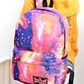 Fashion Unisex Stars Universe Space Printing Backpack School Book Backpacks British-flag Shoulder Bag LT88