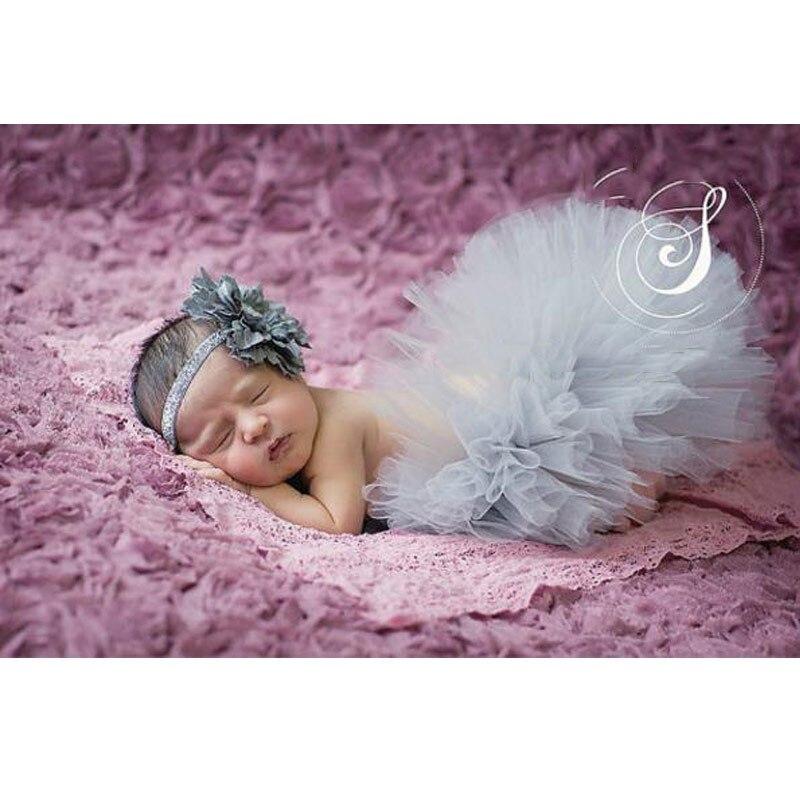 Реквизит для фотосессии новорожденных; юбка для девочек; юбка-пачка принцессы с бантом; фатиновая повязка на голову с цветочным рисунком; вязаная шапка для фотосессии - Цвет: 6