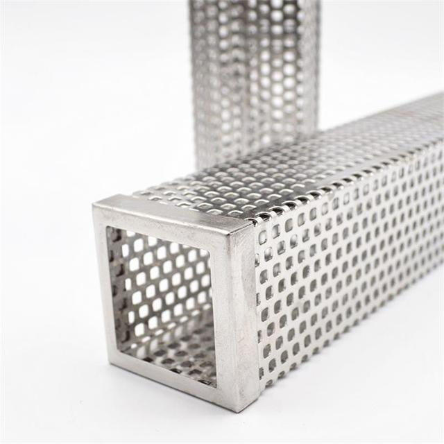 12in Pellet Smoker Tube Stainless Steel Cube Smoker Hot or Cold Smoking Generator BBQ Grill Smoking Mesh Tubes BBQ Accessoires 3