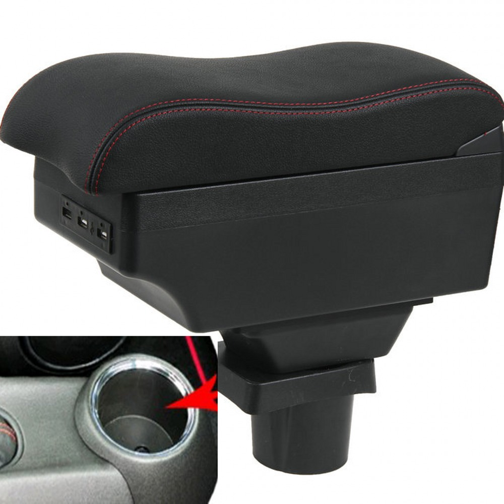 For <font><b>MINI</b></font> cooper <font><b>F56</b></font> F55 armrest box USB Charging heighten Double layer central Store content cup <font><b>holder</b></font> ashtray accessories image