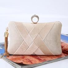 new tassel handmade handbag clutch brand lady night club evening party ceremony casual leisure