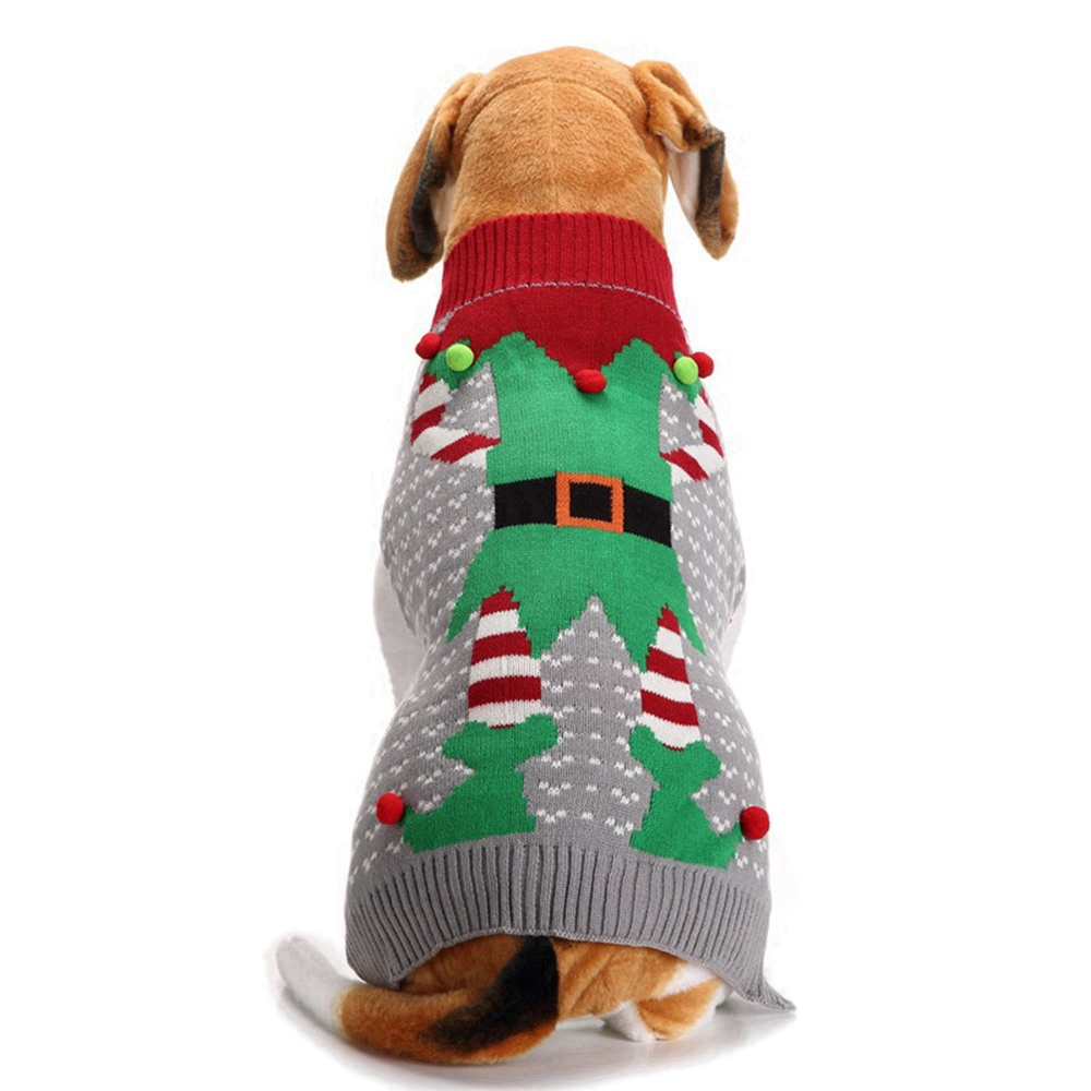 Christmas Sweaters For Dogs.Us 10 43 42 Off Pet Christmas Clothes Winter Dog Costume Clown Gray Sweater For Small Large Dogs Puppy Clothing Pet Sweaters Dog Clothes In Dog