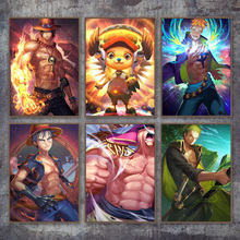 Home Decoration Modular Pictures 1 Panel One Piece Animation Poster Luffy Ace Nami Zoro Wall Art Canvas Painting Prints Bedroom