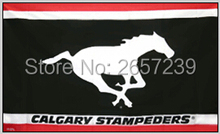 Calgary Stampeders Flag 3x5FT CFL banner 100D 150X90CM Polyester brass grommets custom66,free shipping