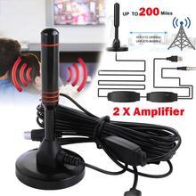 LumiParty внутренняя цифровая HD ТВ антенна усиленная 200 Миля Диапазон VHF UHF Freeview r15