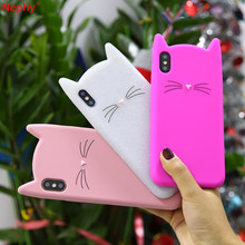 Totoro Cat precioso caso para iPhone XS MAX XR X 10 iPhone 6 iPhone 6 S 6 s iPhone 7 8 6 funda protectora para teléfono móvil Plus 7 Plus 8 Plus iPhone 5S 5SE(China)