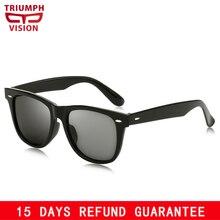 TRIUNFAR Mens Design da Marca Óculos de Sol Óculos de VISÃO Simples Legal  UV400 Luneta Espelho Cor Da Lente Óculos de Sol Mascul. bb56c50301