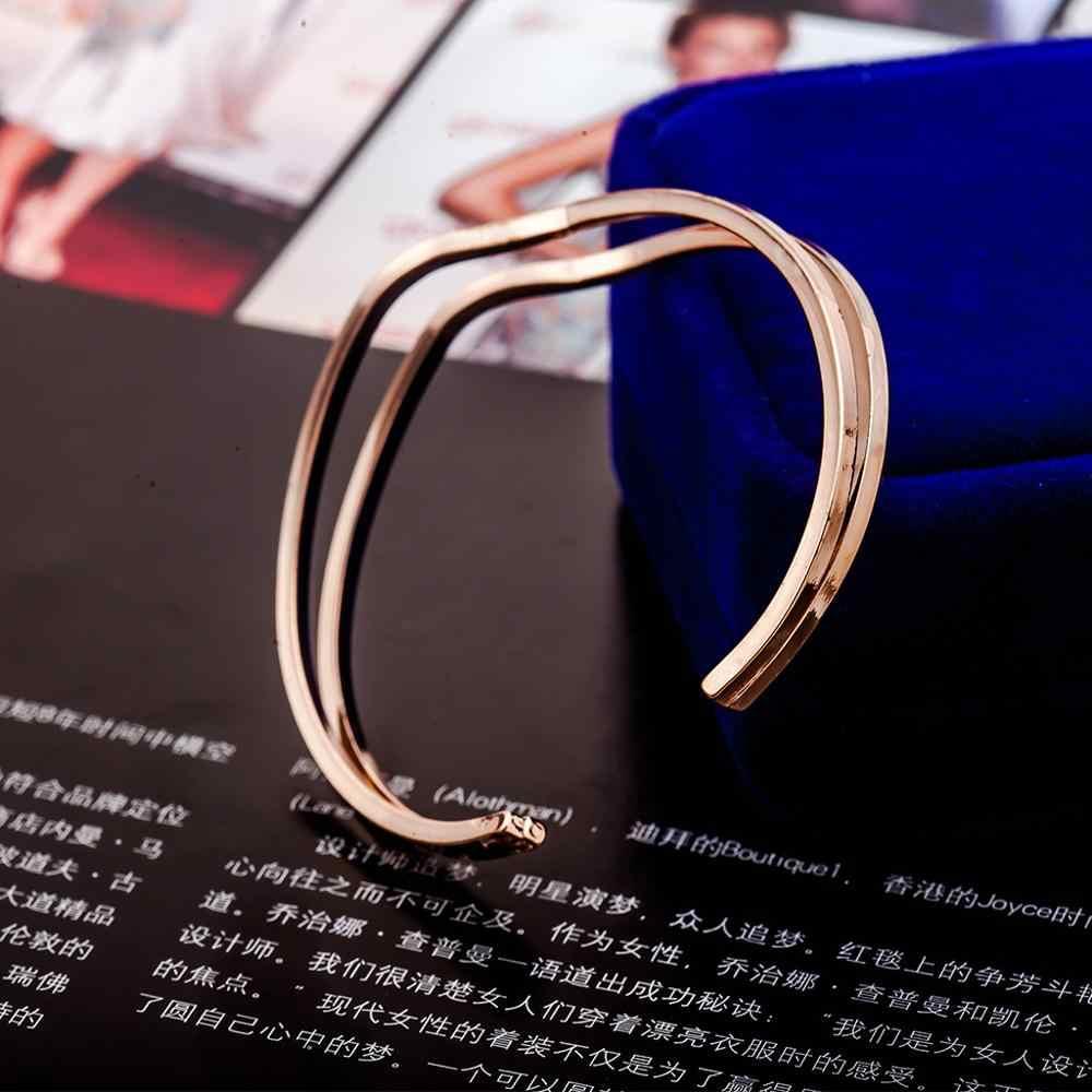 Punk wielowarstwowy bransoletki Femme wąż łańcuch moda złoty/posrebrzane Charm Pulseira Feminina kobiety biżuteria