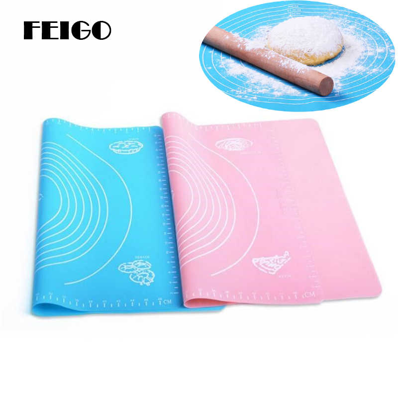 FEIGO 50*40cm Thicker Silicone Pad Baking Dough Rolling Pin Large Panel Surface And Bakeware Silicone Pad Chopping Board F264