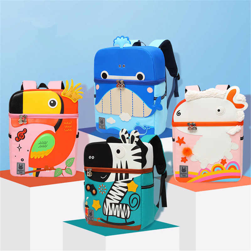Einhorn Kindergarten tier Schul Kind Rucksack kinder Baby Cartoon Nette buch Tasche Kleinkind kinder Schule Taschen Für Mädchen jungen