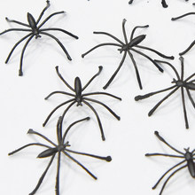 New Modern 20pcs 4cm Halloween Plastic Black Spider Realistic Prank Joking Toys home Decoration Cheap(China)