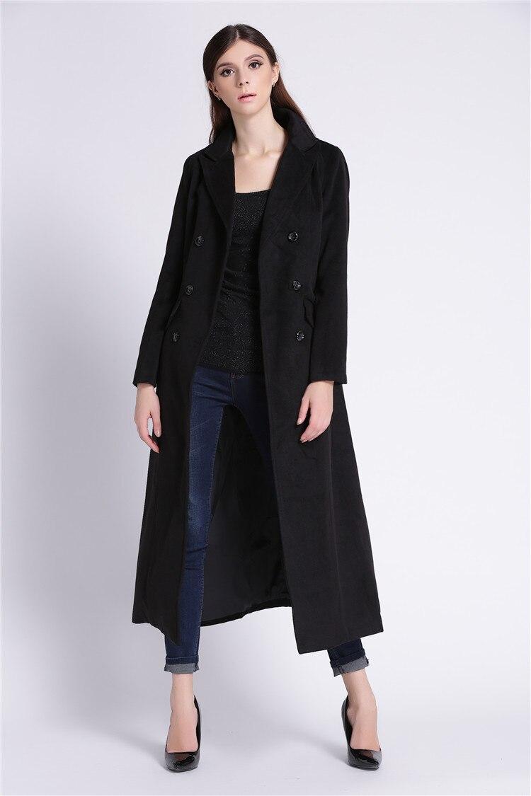 Ultra Long Design Woolen Double Breates font b Jacket b font for font b Women b