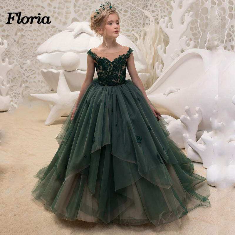 Little Girls Wedding Gowns: New Arrival Little Girls Lace V Neck Ball Gown Special