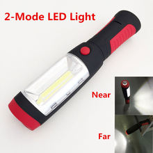 2016 Portable Mini LED Flashlight Light Lamp with 2 Light Modes Magnet Rotating Hanging Hook for