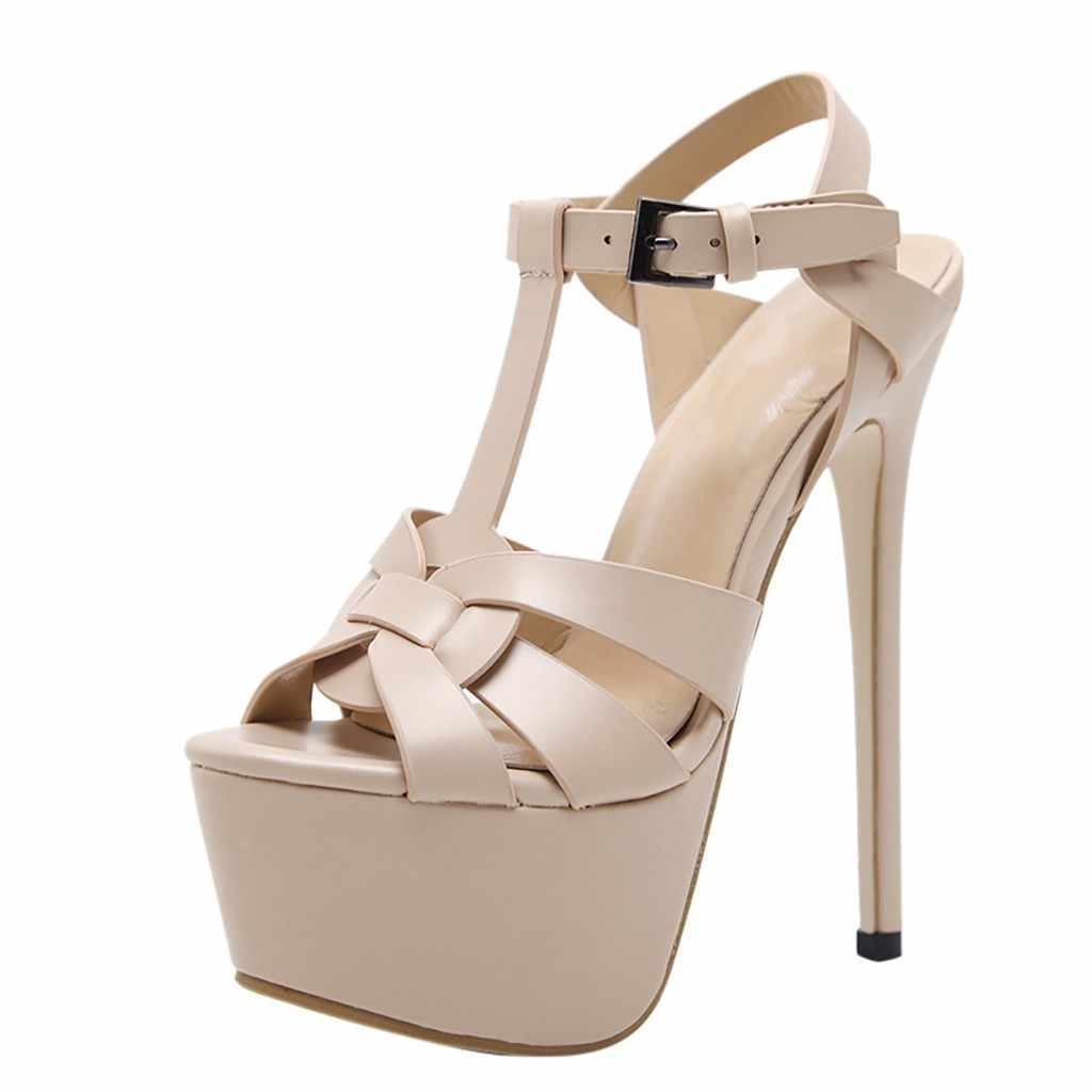 SAGACE Patlama modelleri büyük boy kadın ayakkabısı 16 cm süper yüksek topuk platformu yaz yeni kadın seksi yüksek topuklu sandalet 2019
