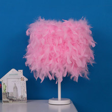 Feather Crystal Table Lamp Light lamp Desk LED Bedside Reading Room For Living Room Lamps Table Modern Bedlamp Bedside lamp(China)