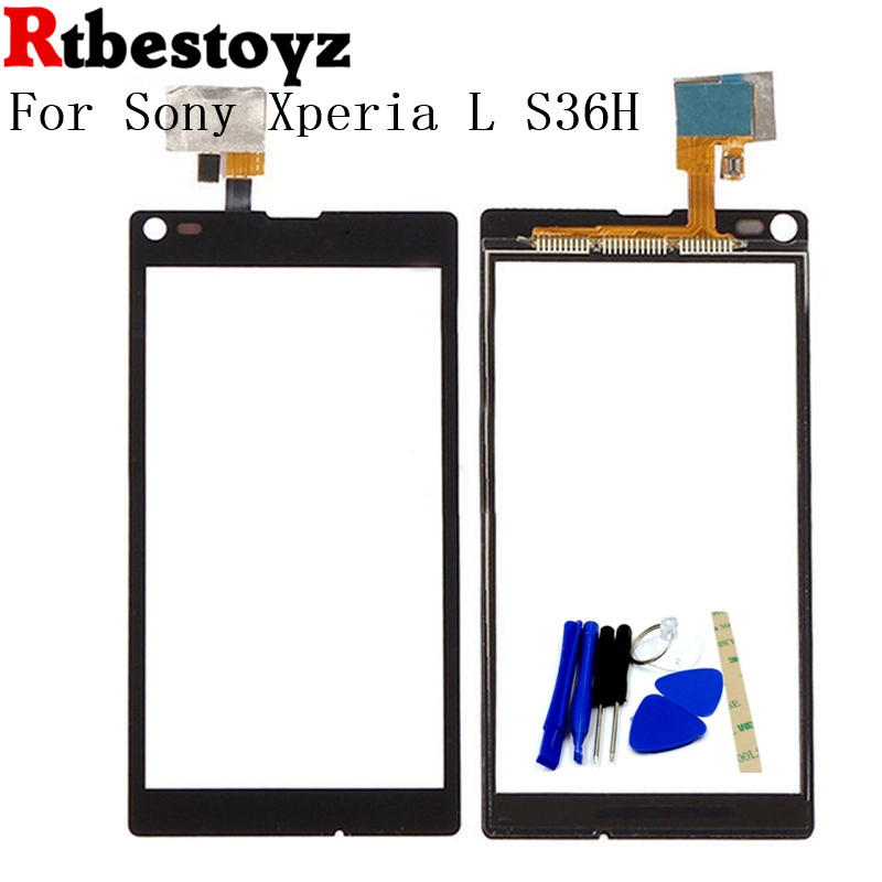 RTBESTOYZ Touch screen Sensor For Sony Xperia L S36H C2105 C2104 Front Glass Touch Screen Panel Digitizer
