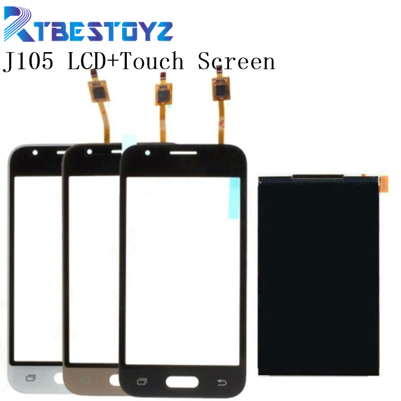 RTBESTOYZ Original <font><b>LCD</b></font> Display + Digitizer Touch Screen Replacement Parts For Samsung Galaxy J1 mini J105 <font><b>J105H</b></font> J105F J105B image