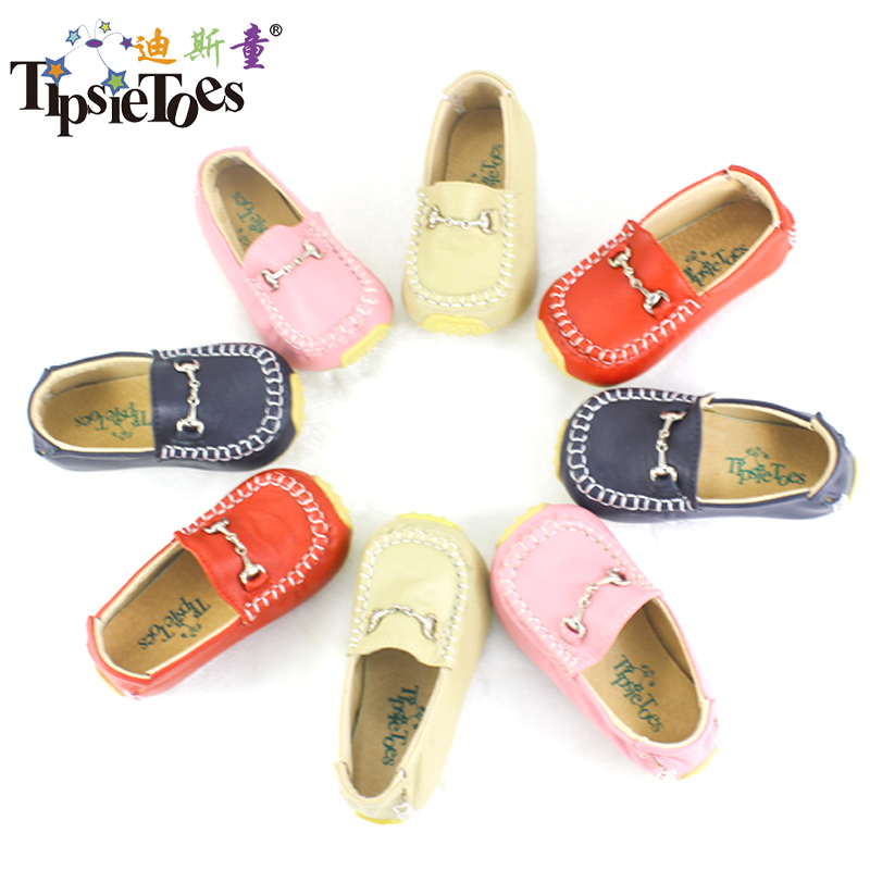 Tipsietoes Boys Girls Shoes Slip-on Loafers Leather Flats Soft Kids Baby First Walkers Mocassin Children Toddler Sneaker | Happy Baby Mama