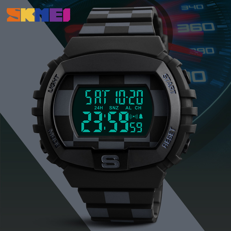 New Men Outdoor Sport Watch Mens Watches Top Brand Luxury Military LED Digital Wrist Watches Male Clock Relogio Masculino Skmei eachshot