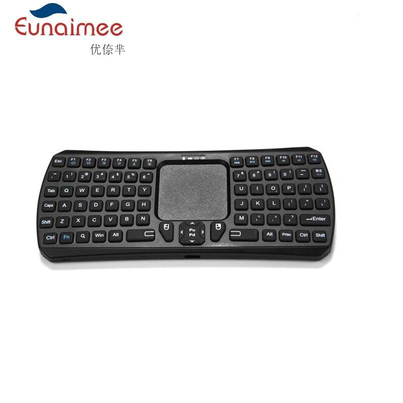 Mini clavier sans fil multifonction 2.4G avec pavé tactile pour PC Smart TV