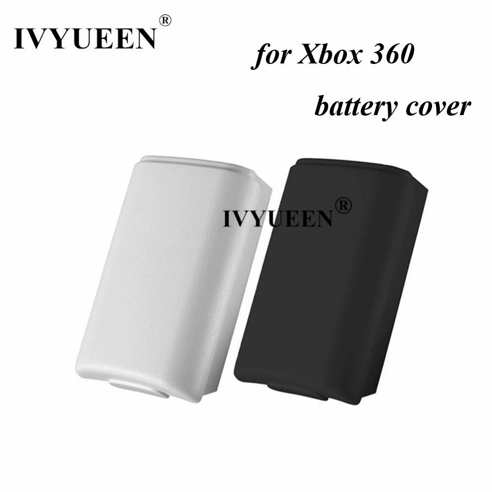 IVYUEEN Black White Battery Pack Cover Shell For Xbox 360 Wireless Controller AA Battery Back Case Replacement Shell Mod