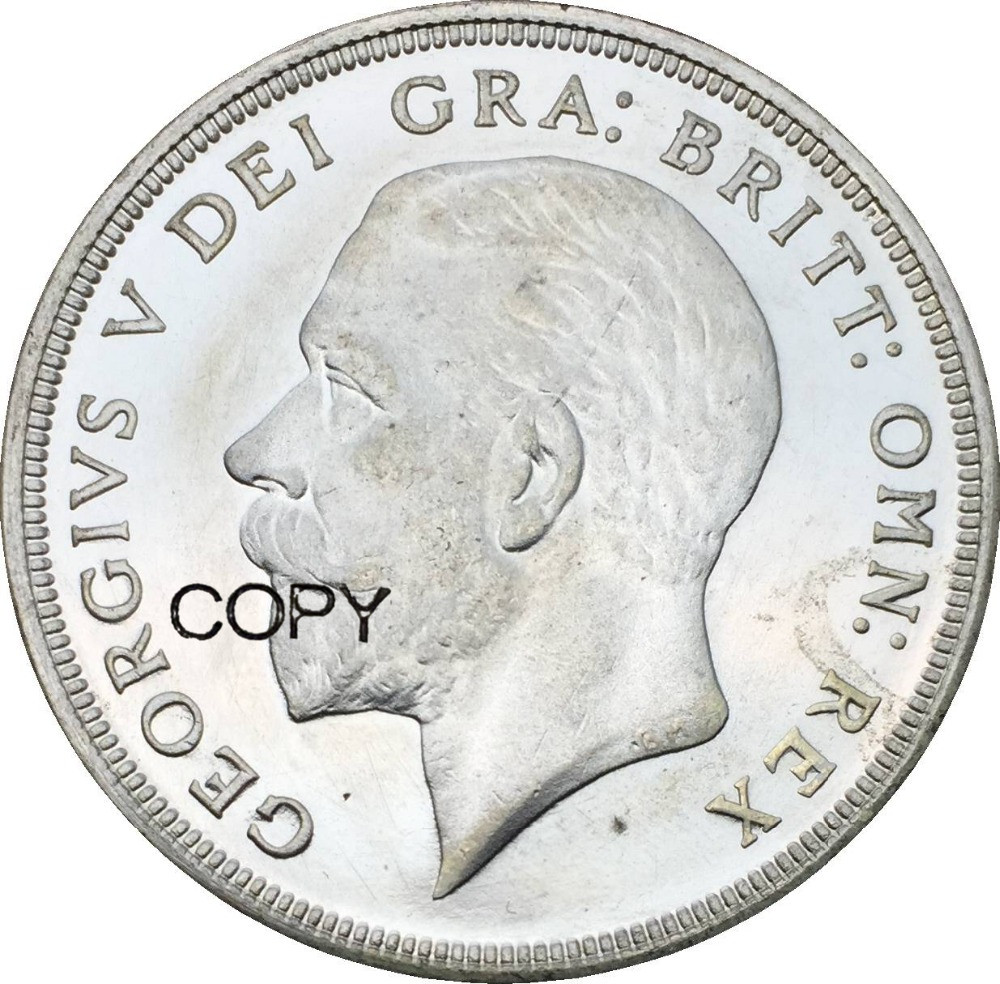 1936 Great Britain 1 Crown George V Wreath Crown Cupronickel Plated Silver Copy Coins|coin coins|crown crownbrass crown - AliExpress