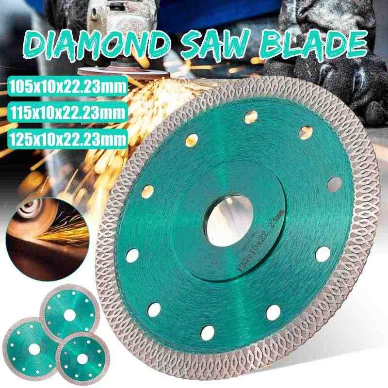 Hijau 105/115/125 Mm Panas Ditekan Sinter Mesh Turbo Diamond Saw Blade Cutting Disc Berlian Roda untuk ubin Porselen Keramik