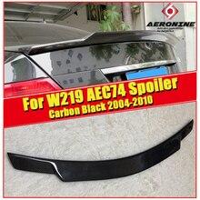 цена на Spoiler Extension cap wing Fits For Mercedes Benz CLS W219 CLS350 CLS400 Sedan wing rear spoiler C74 style Carbon fiber 2004-10