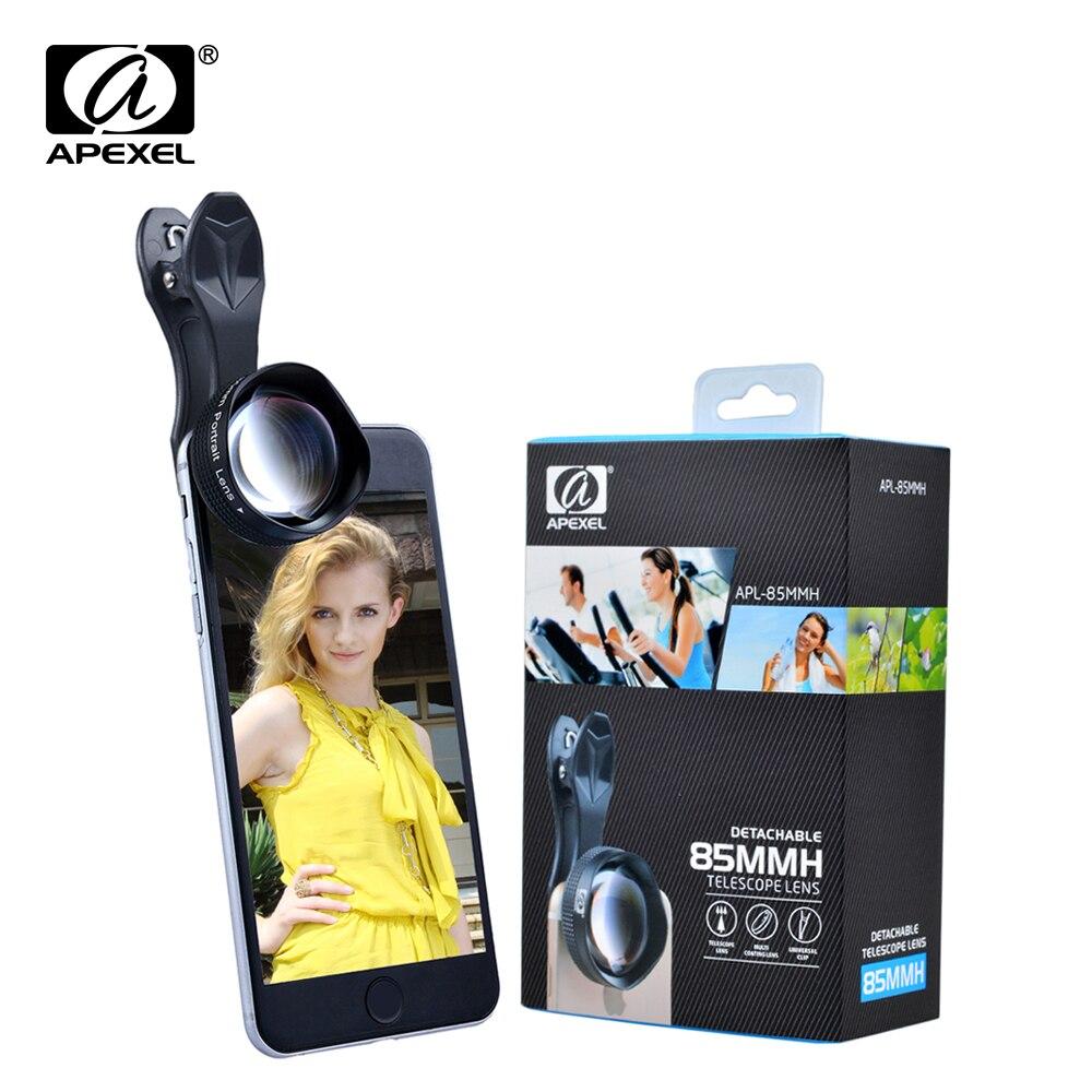 bilder für Apexel 85mm porträt objektiv 3x hd teleobjektiv professionelle handy-kamera-objektiv für iphone, samsung android smartphone