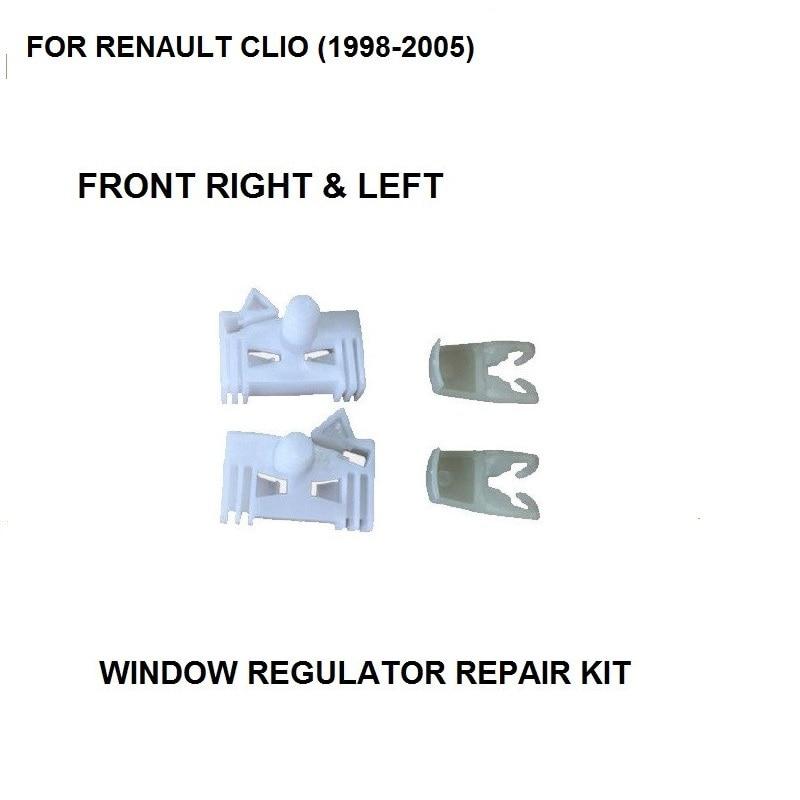 FOR RENAULT CLIO (1998-2005) WINDOW REGULATOR REPAIR CLIP FRONT RIGHT & LEFT Plastic Clips