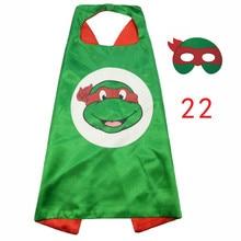 ZLJQ Cartoon Ninja Turtles Mask Cloak 2017 Fun Children Mask Cloak For Halloween Christmas Birthday Party Decoration Supplies 6D
