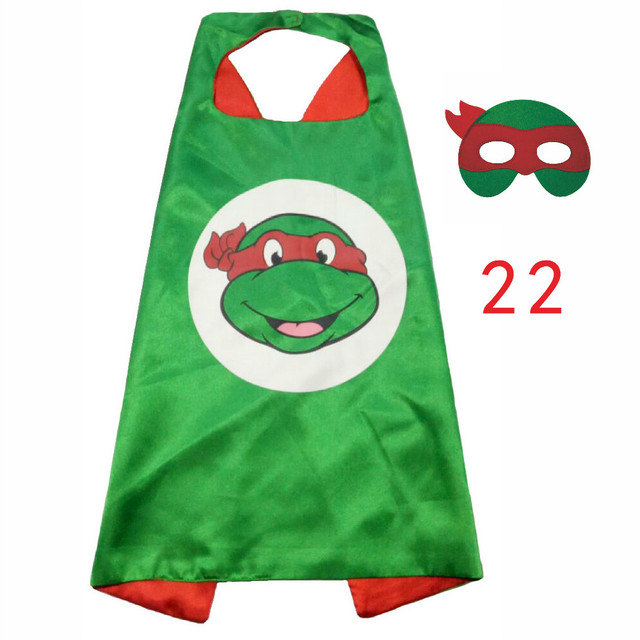 ZLJQ Cartoon Ninja Turtles Mask Cloak 2017 Fun Children Mask Cloak For Halloween Christmas Birthday Party Decoration Supplies 6D