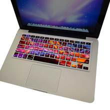 Galaxy Warna Planet Keyboard Sticker Cover untuk MacBook 12/13 Inch 15 Inch Retina Eropa(China)