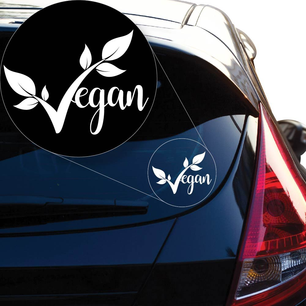 Yoonek Graphics Vegan pride Decal Sticker for Car Window Laptop and More 952 4 quot x 5 5 quot White in Car Stickers from Automobiles amp Motorcycles