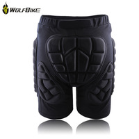 WOLFBIKE Hip Butt Protective Shorts Pad Ski Skate Snowboard Skiing Shorts Roller Padded Protection Gear Racing Body Armor Shorts