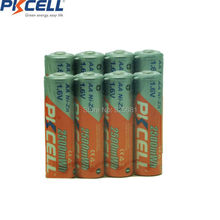 8pcs 1.6v AA 2500mwh rechargeable battery in NIZN green chemistry, high efficient rechargeablle aa battery