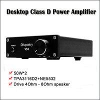 Dilvpoetry V50 Class D Power Amplifier Professional TPA3116D2 Amplificador Audio Amplifier 50W Hifi Amplifiers Home Amp
