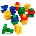 5 пар/лот винт строительные блоки пластиковые вставки блоков гайка форма игрушки для детей развивающие игрушки масштабные модели